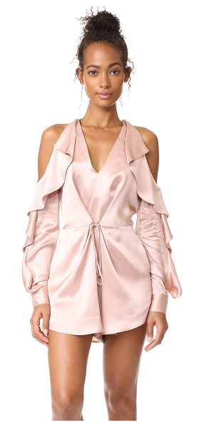 Acler florence romper in rose quartz - This polished Alcer romper is designed with breezy...