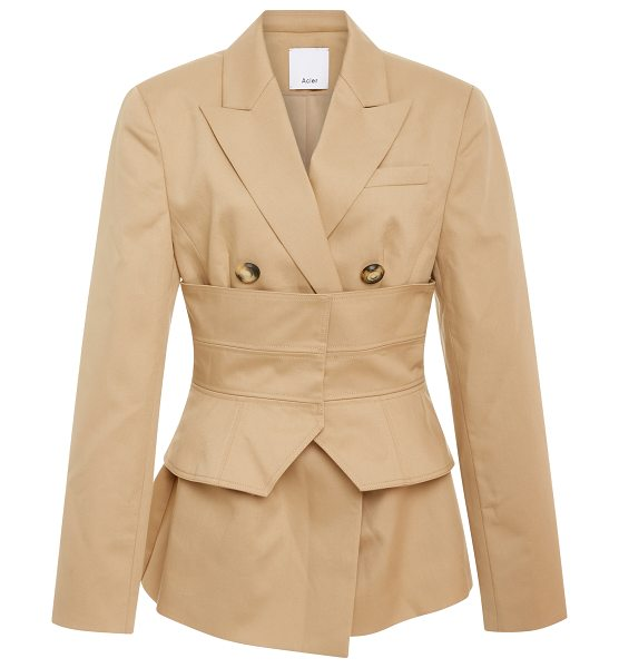Acler Orson Obi Corset Blazer in neutral - This *Acler* Orson Obi Corset Blazer features a wide...