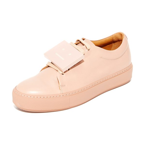 Acne Studios adriana sneakers in dusty pink - Smooth leather Acne Studios low-top sneakers with a...