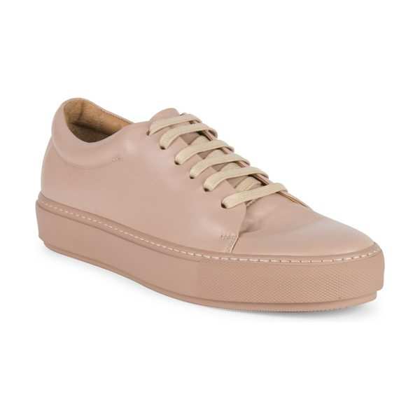 Acne Studios adriana turnup leather sneakers in light pink - Smooth leather low-top sneaker set on rubber platform....