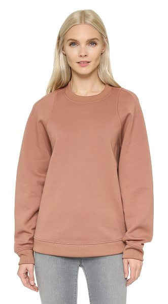 Acne Studios Albina fleece pullover in dusty pink - An oversized Acne Studios sweatshirt with a tapered...