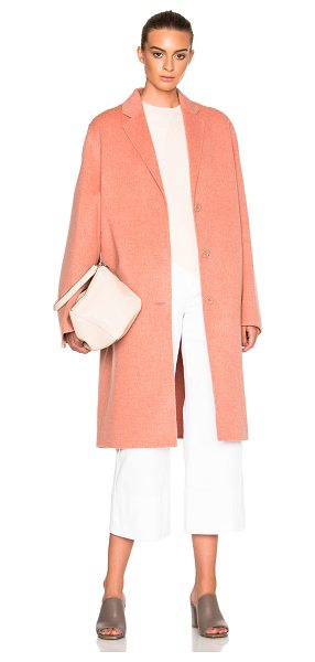 Acne Studios Avalon Double Coat in pink - 85% wool 15% cashmere.  Made in Korea.  Dry clean only. ...