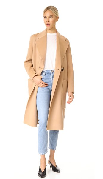 Acne Studios carice double trench coat in camel - This oversized Acne Studios trench coat is composed of...