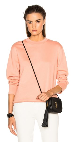 Acne Studios Carly Sweater in pink - Self: 100% cotton<br>Rib: 98% cotton 2% elastan.  Made...
