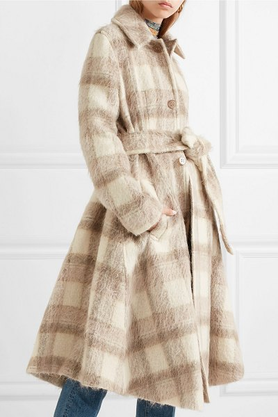 Acne Studios checked felt coat in beige - Acne Studios debuted so many great coats on its Fall '18...