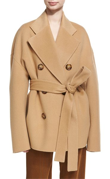 "Acne Studios Claar Double-Breasted Wool-Cashmere Coat in camel - Acne Studios ""Claar"" coat in double-faced wool-cashmere..."