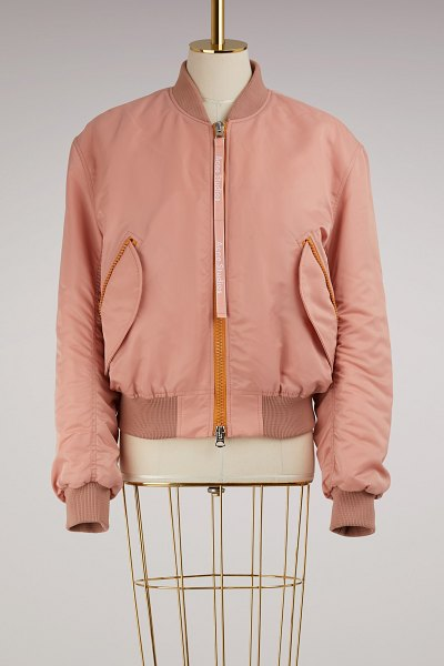 Acne Studios Cléa Bomber Jacket in pale pink - This Clea Bomber Jacket from Acne Studios features a...
