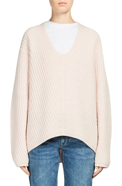 Acne Studios deborah wool sweater in pale pink - Comfy sweater tailored in luxurious wool fabric....