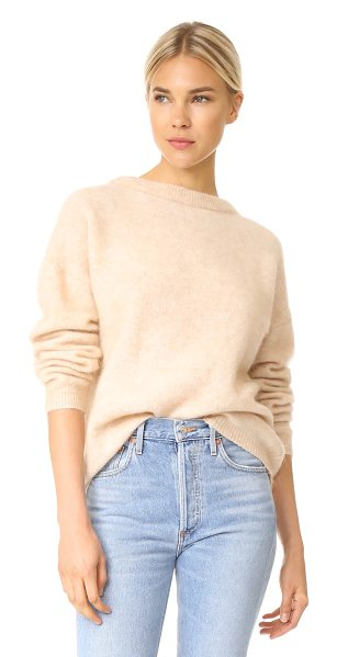 Acne Studios dramatic mohair sweater in light camel