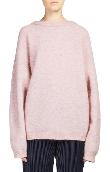 Acne Studios dramatic longline sweater in dustypink - Rib-knit sweater in a cocoon-like loose design....