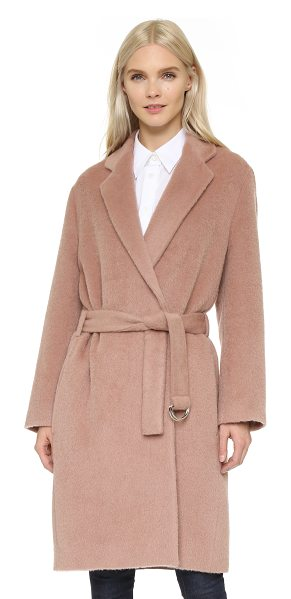Acne Studios Elga hairy coat in dusty pink - A chic, menswear inspired Acne Studios coat in a luxe,...