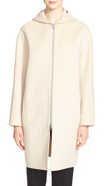 Acne Studios emile double wool & cashmere coat in nougat beige - Wool and cashmere threads weave together to form this...