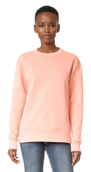 Acne Studios fairview face sweatshirt in pale pink