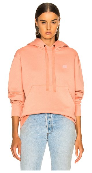 Acne Studios Ferris Face Hoodie in pink - Self & Rib: 100% cotton.  Made in Portugal.  Machine...