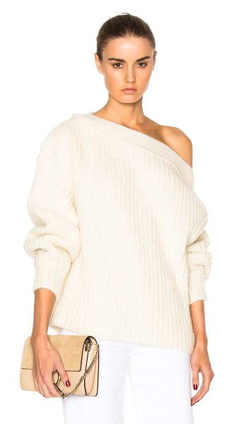 Acne Studios Holden Chunky Sweater in neutrals - 85% wool 10% mohair 5% polyamide.  Made in Italy.  Hand...