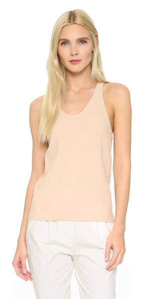 Acne Studios Iso ribbed tank in nougat beige - A simple Acne Studios tank, composed of slinky, ribbed...