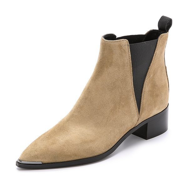 ACNE STUDIOS Jensen suede booties - A slim, pointed toe gives these suede Acne Studios...