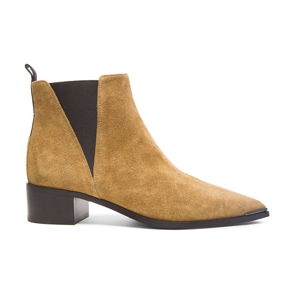 Acne Studios Suede Jensen Boots in brown - Suede upper with leather sole.  Made in Italy.  Approx...
