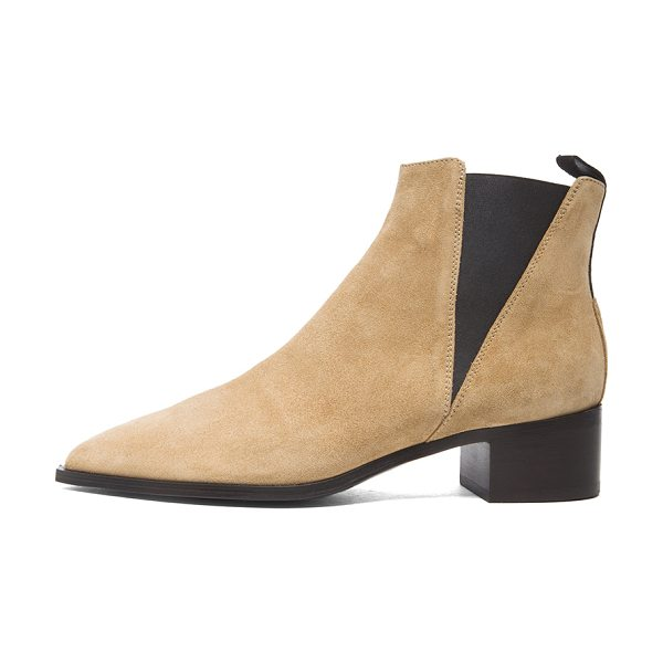 Acne Studios Jensen Suede Booties in neutrals - Suede upper with leather sole.  Made in Italy.  Approx...