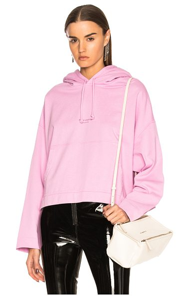 Acne Studios Joggy Hoodie in pink - 100% cotton.  Made in Portugal.  Machine wash.  Front...
