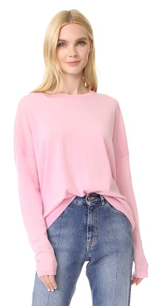 Acne Studios karel merino pullover in pink - An oversized silhouette lends a relaxed, boyfriend feel...