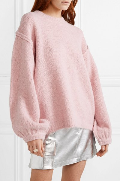 Acne Studios kiara oversized knitted sweater in pastel pink