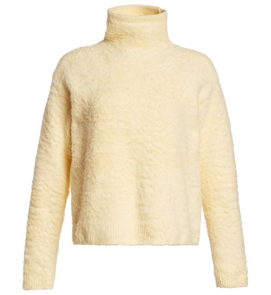 Acne Studios kristel knit turtleneck sweater in vanilla yellow - From the Saks It List: Pastels A fuzzy finish on this...