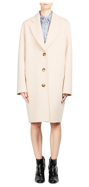 Acne Studios landi double coat in palepink - Wool blend coat featuring a classic button front. Notch...