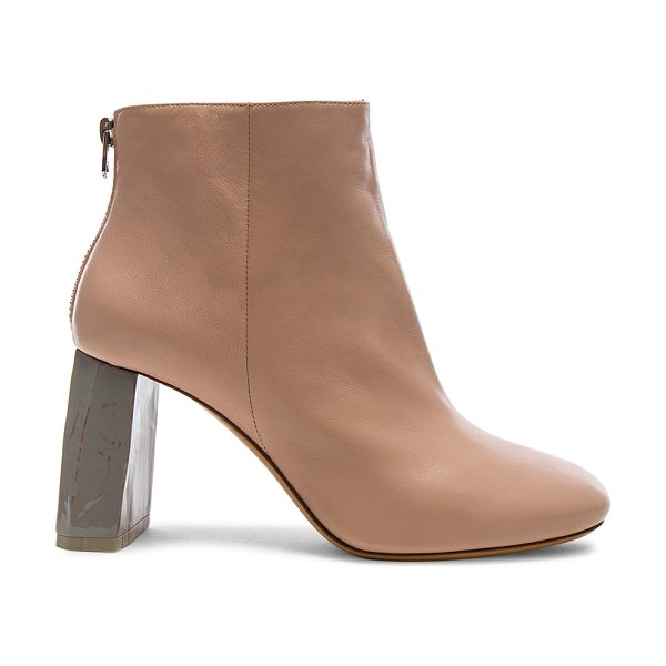 Acne Studios Leather Claudine Booties in pink - Leather upper and sole.  Made in Italy.  Approx 75mm/ 3...