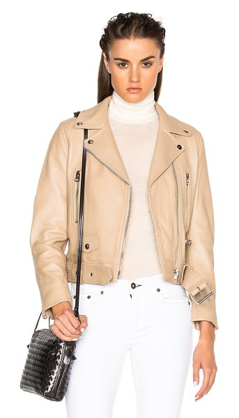 Acne Studios Mock Leather Jacket in neutrals,brown - Self: 100% lambskin leather - Lining: 52% viscose 48%...