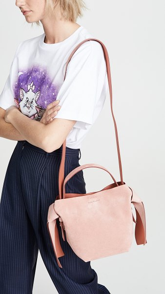 Acne Studios musubi mini bag in pink