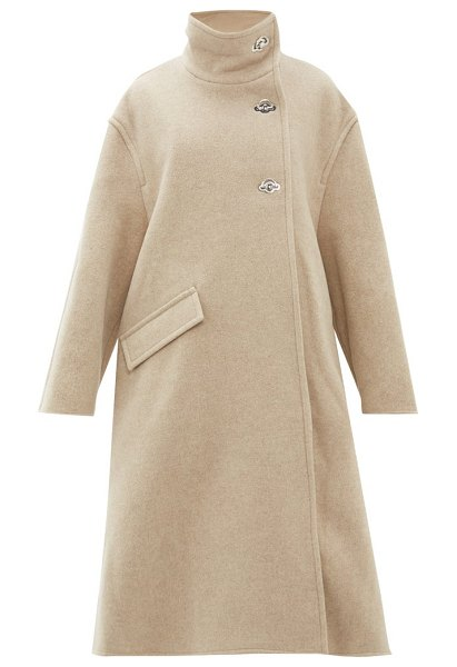Acne Studios osandra wool-blend a-line overcoat in beige