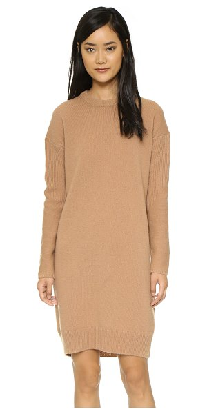 Acne Studios Phebe shet wool sweater dress in cashew brown - A cozy, chic Acne Studios sweater dress with ribbed...