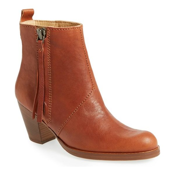 Acne Studios pistol bootie in brown - A clean-lined profile underscores the on-trend attitude...