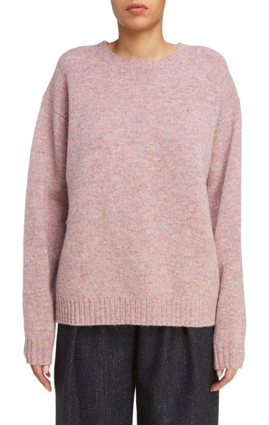Acne Studios samara fuller fit sweater in dusty pink - Available in dusty rose or sunny yellow, this stylishly...