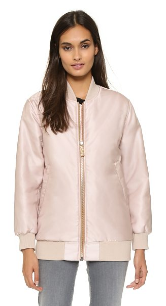 Acne Studios Selow bomber in powder pink - A classic bomber jacket gains modern appeal in an...