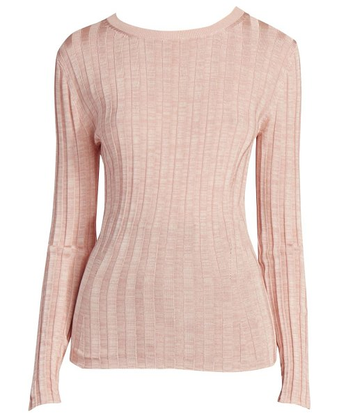 Acne Studios sitha shiny knit in peach pink