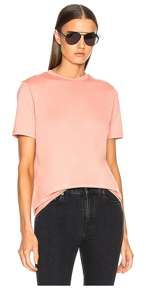 Acne Studios Taline Tee in pink - 100% cotton.  Made in Portugal.  Machine wash.