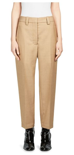 Acne Studios trea struct wool trousers in camel - Solid trousers featuring a pleated front. Belt loops....