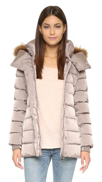 Add Down Down jacket with fur hood in old rose - This extra warm Add Down puffer coat has optional fur...