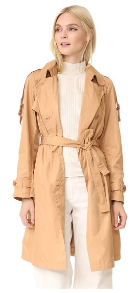 Add Down trench coat in beige - A smooth Add Down trench coat with classic styling....