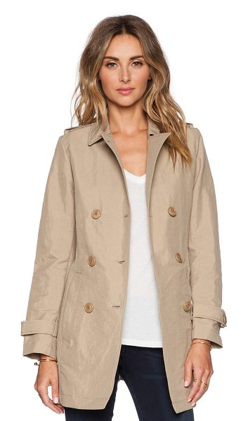 ADD Unlined trench in beige - 52% polyamide 48% cotton. Double breasted front button...