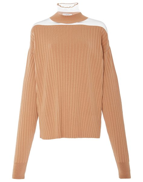 ADEAM Sheer Shoulder Top - This *Adeam* top features a turtleneck sheer shoulders...