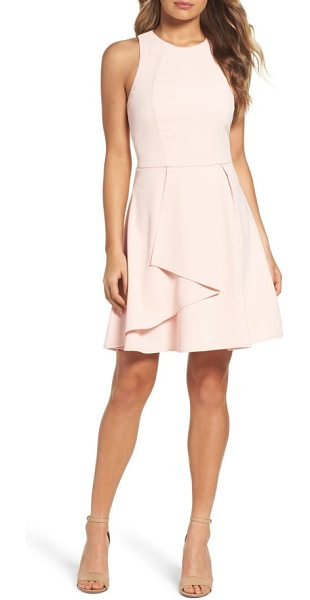 Adelyn Rae athena fit & flare dress in pink sand - A cascading overlay deepens the pretty impact of this...