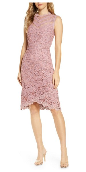 Adelyn Rae doreen lace cocktail dress in pink