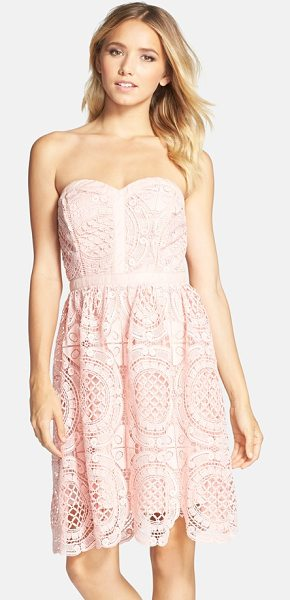 ADELYN RAE embroidered lace fit & flare dress - Special because of its forgiving structure and...