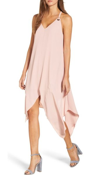 Adelyn Rae georgina shift dress in chalk rose - Wrap yourself in crisp, flowy crepe that flutters with...