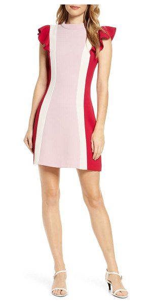 Adelyn Rae keely colorblock minidress in pink