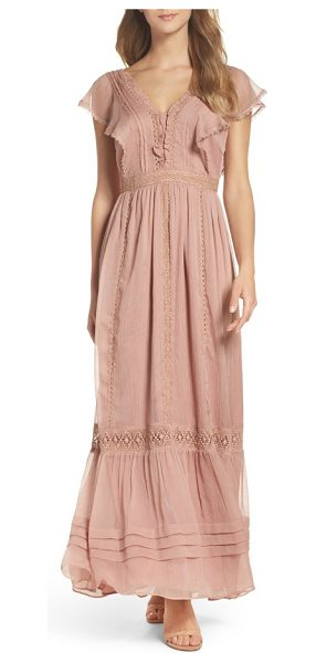 ADELYN RAE lace maxi dress - Ruffles and wisps of lace play up the romantic air of...