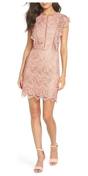 Adelyn Rae raquel lace sheath dress in pink - Blanketed in romantic lace  with sweetly scalloped c2f7829133